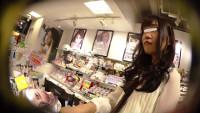 店員撮り64!カラコン売り場お嬢様?~僕の度数でお姉さんのスト越しのパンティは見えますか?~
