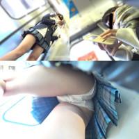 【制服JK】さかさんぽ No.002 驚異のもも上げパンチラ【顔出し】