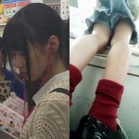 軽の下着にイタズラ vol.4【茶髪ポニテの都会的美少女JKのパンティは…?】