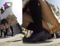 【顔出しJK13】夢⑥ 小動物系JKの純白P。大胆開脚、追っかけ、フロント【声かけ】