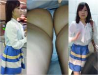 Full HD 超絶美人清楚なのにTバックお姉さん ~生脚スカートをエスカにてめくり逆さ撮りで~