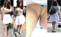 Full HD光量抜群 スタイル抜群ショップ店員系Tバック美人お姉さん ~生脚スカートをエスカにてめくり逆さ撮りで~