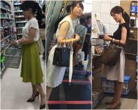 8/17ファイル修正済 美人人妻OL3人!むっちりレース&薄紫&白パンティー