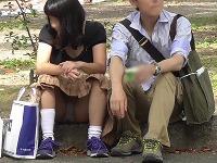 【公園シリーズ014】 【FHD/60】もこもこPのアイスシェアカップル