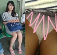 【限定7セット!】大迫力!!取撮れ高ヤバすぎ超S級美女の顔面ドアップ&スカートめくりで純白パンティ丸見え!!