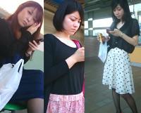新作!【限定7セット!】1000年に一度のお姉さん達をスカートめくりで3人のパンティ丸見え!!part2