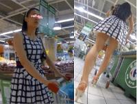 【高画質カメラで盗○!】美脚お姉さんのプリケツをゲット☆