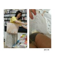 逆さ撮り スカートにぶっこみをしてみたNo.10【顔撮り・ノーパンあり】