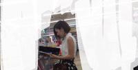 ショートカット美人お姉さんの純白パンツ