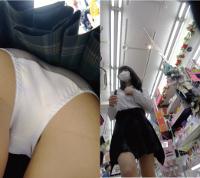制服J●[4K高画質]お手本のような純白パンティ!フロント多め!!